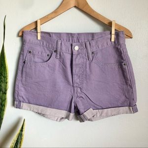 Levi's 501 Purple Denim Shorts